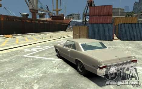 Pontiac GTO v1.1 para GTA 4 Vista posterior izquierda