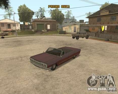 Extreme Car Mod (Single Player) para GTA San Andreas sucesivamente de pantalla