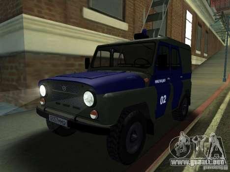 Policía UAZ 3151 para GTA San Andreas