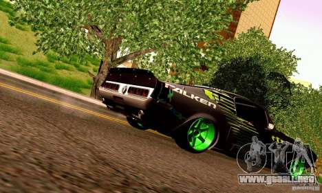 Shelby GT500 Monster Drift para vista inferior GTA San Andreas