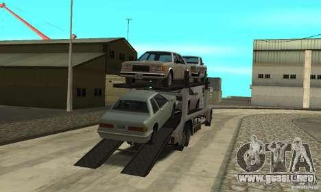 Avtoparkovŝik para GTA San Andreas segunda pantalla