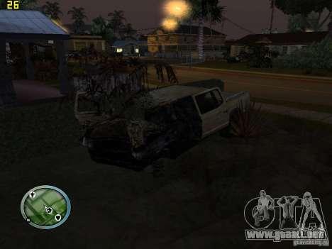 Autos rotas en la calle Grove para GTA San Andreas