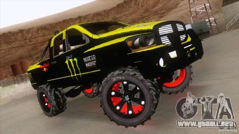 Dodge Ram 4x4 para GTA San Andreas vista hacia atrás
