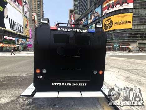 Lenco BearCat NYPD ESU V.1 para GTA 4 Vista posterior izquierda