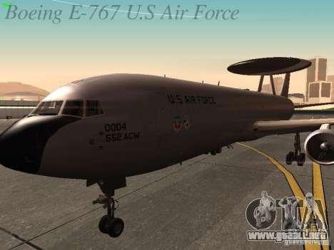 Boeing E-767 U.S Air Force para vista lateral GTA San Andreas