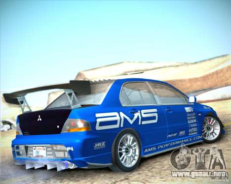 Mitsubishi Lancer Evolution IX Tunable para GTA San Andreas left