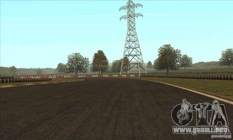 GOKART pista ruta 2 para GTA San Andreas sucesivamente de pantalla