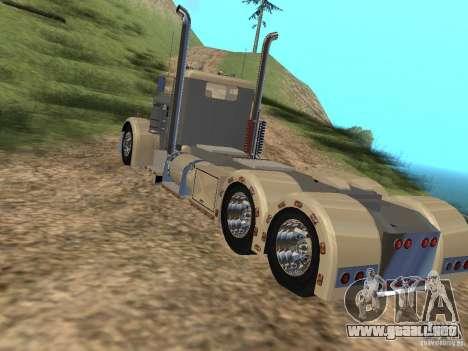 Pimped Peterbilt 381 para GTA San Andreas vista posterior izquierda