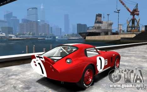 Shelby Cobra Daytona Coupe 1965 para GTA 4 visión correcta
