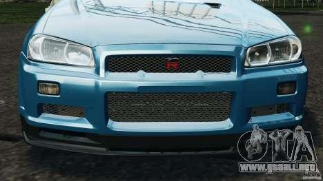 Nissan Skyline GT-R R34 2002 v1.0 para GTA motor 4