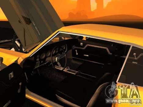 Chevrolet Chevelle SS 1970 v.2.0 pjp1 para GTA San Andreas vista hacia atrás