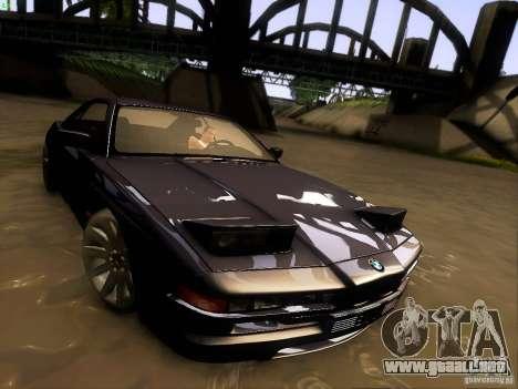 BMW 850 CSI para vista inferior GTA San Andreas