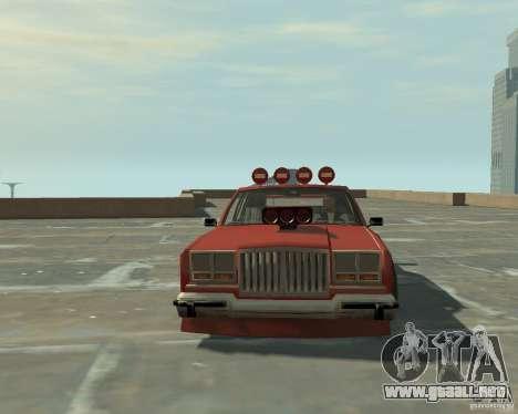 Greenwood sintonizado de San Andreas para GTA 4 vista hacia atrás