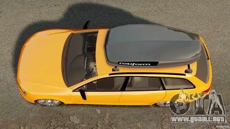 Audi A6 Avant Stanced 2012 v2.0 para GTA 4 visión correcta
