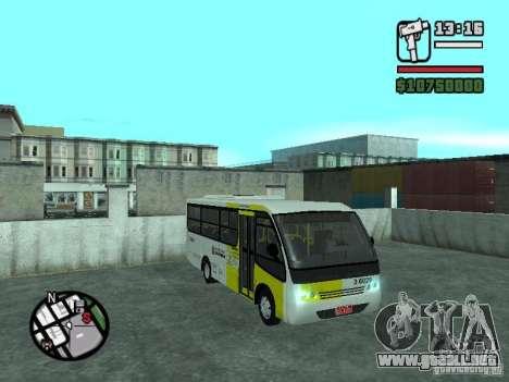 Induscar Caio Piccolo para GTA San Andreas vista hacia atrás