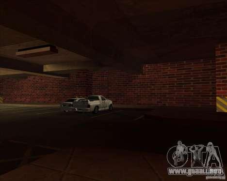 Policía de garaje nueva LSPD para GTA San Andreas sucesivamente de pantalla