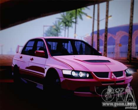 Mitsubishi Lancer EVO VIII MR 2004 para la vista superior GTA San Andreas