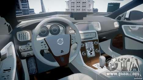 Volvo S60 Macedonian Police [ELS] para GTA 4 visión correcta