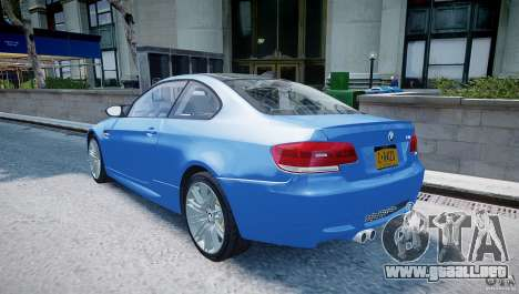 BMW M3 E92 2008 v.2.0 para GTA 4 Vista posterior izquierda