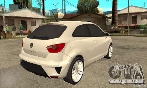 Seat Ibiza Cupra 2009 para la visión correcta GTA San Andreas