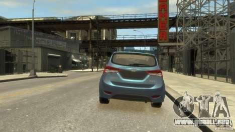 Hyundai IX20 2011 para GTA 4 vista hacia atrás