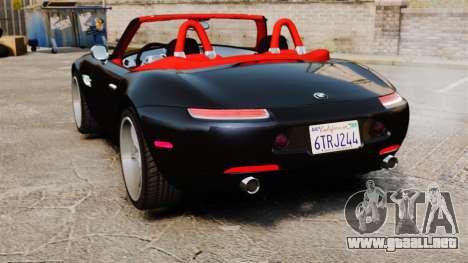 BMW Z8 2000 para GTA 4 Vista posterior izquierda