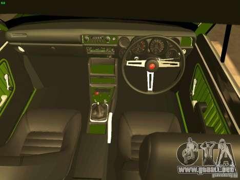 Nissan Sunny K Truck FISH ART para visión interna GTA San Andreas