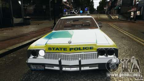 Dodge Monaco 1974 Police v1.0 [ELS] para GTA 4 ruedas