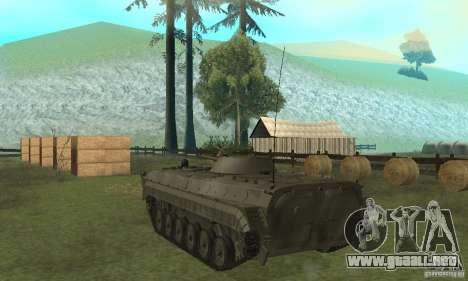 BMP-1 gris para GTA San Andreas vista posterior izquierda