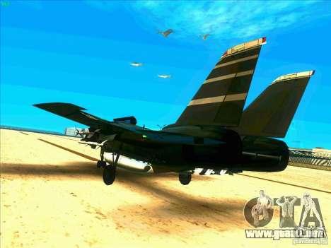 F-14 Tomcat Schnee para GTA San Andreas vista posterior izquierda
