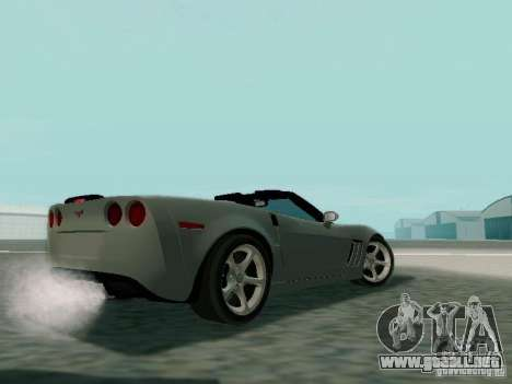 Chevrolet Corvette C6 GS Convertible 2012 para GTA San Andreas vista posterior izquierda