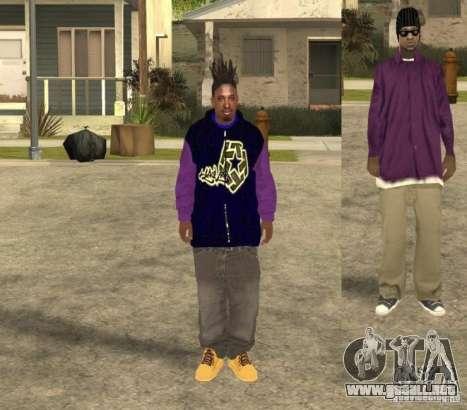 Skinpack Ballas para GTA San Andreas sucesivamente de pantalla