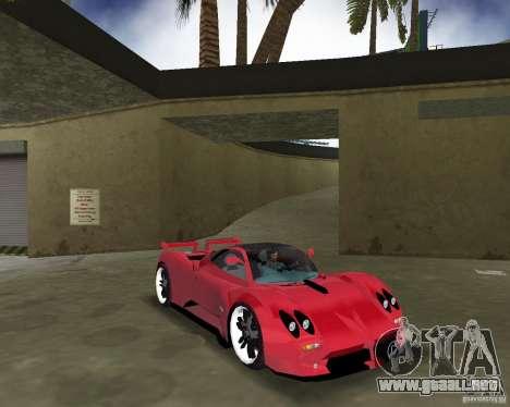 Pagani Zonda S para GTA Vice City vista posterior
