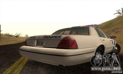 Ford Crown Victoria Arkansas Police para la visión correcta GTA San Andreas