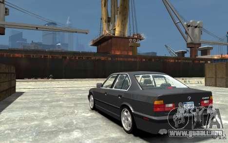 BMW 540i E34 v3.0 para GTA 4 Vista posterior izquierda