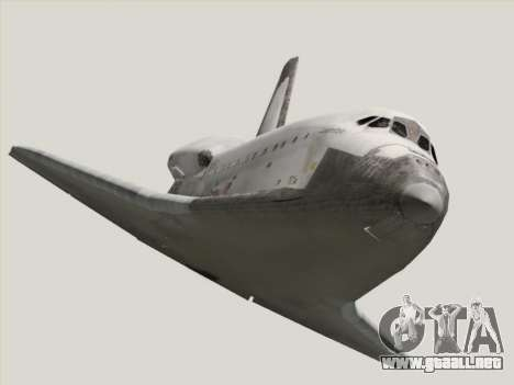 Space Shuttle para GTA San Andreas vista hacia atrás