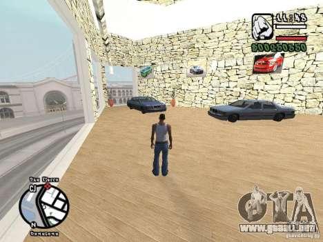 Dodge Salon para GTA San Andreas segunda pantalla