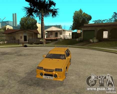 ВАЗ 2108 deporte yuca para GTA San Andreas vista hacia atrás
