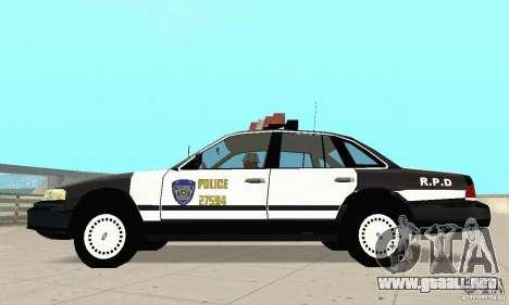 Ford Taurus 1992 Police para GTA San Andreas left