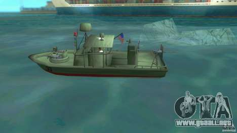 Río bote patrulla Mark 2 (Player_At_Wheel) para GTA Vice City left