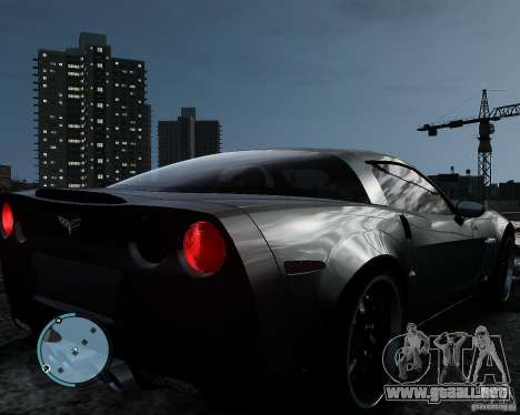 Chevrolet Corvette Grand Sport 2010 para GTA 4 Vista posterior izquierda