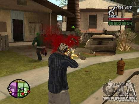 Overdose effects V1.3 para GTA San Andreas sucesivamente de pantalla