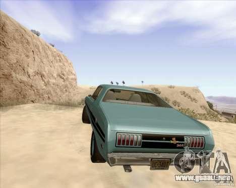 Dodge Demon 1971 para GTA San Andreas vista posterior izquierda