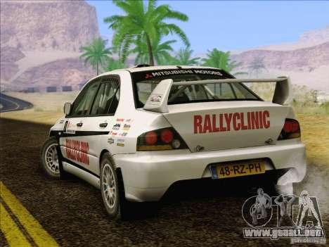 Mitsubishi Lancer Evolution IX Rally para el motor de GTA San Andreas