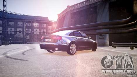 Audi A6 v1.0 para GTA 4 Vista posterior izquierda