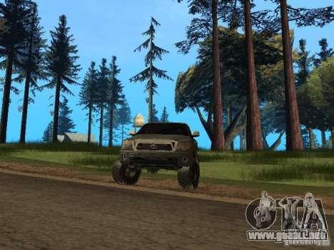 Toyota Tacoma 2011 para GTA San Andreas vista hacia atrás