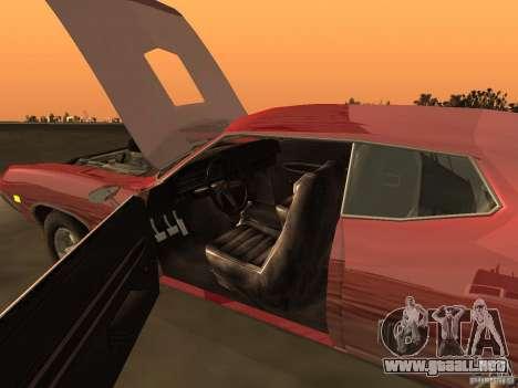Ford Torino Cobra 1970 Tunable para GTA San Andreas interior