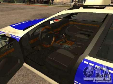 BMW 525i Touring Police para GTA San Andreas vista posterior izquierda
