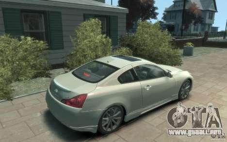 Infiniti G37 S para GTA 4 visión correcta