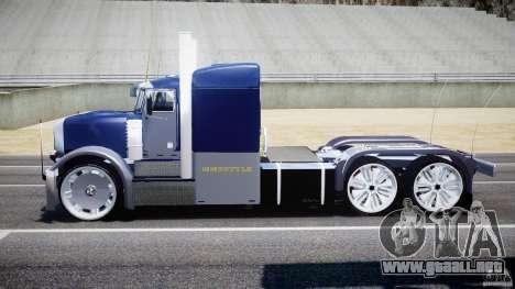 Peterbilt Truck Custom para GTA 4 vista interior